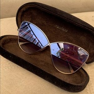 Tom Ford shiny rose gold sunglasses